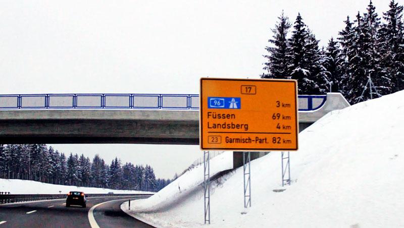Chegando a Füssen pela Autobahn