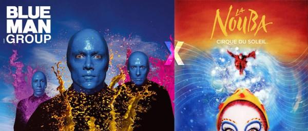 Qual a melhor apresentação, Blue Man Group ou Cirque du Soleil?