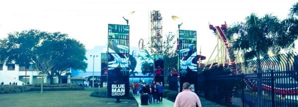 Caminho para o Aquos Theatre, onde fica a apresentação do Blue Man Group