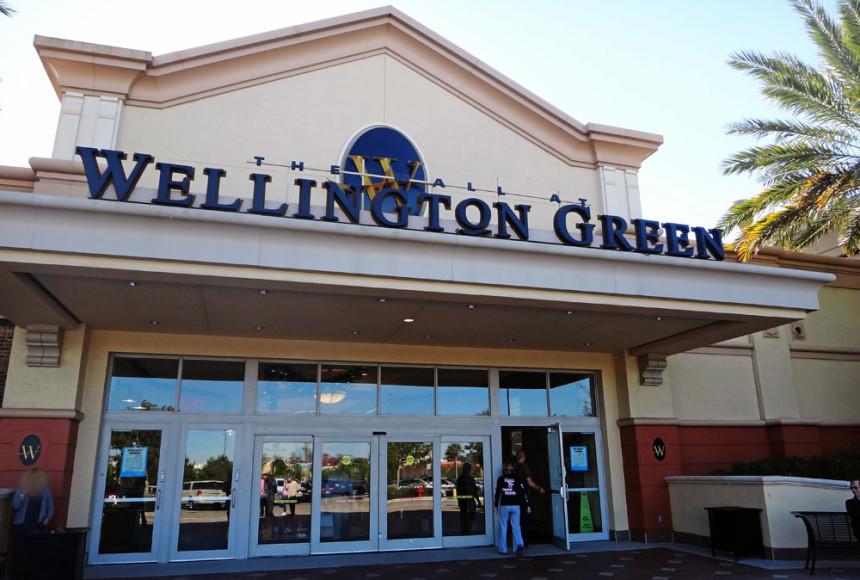 Umas das entradas do Mall at Wellington Green