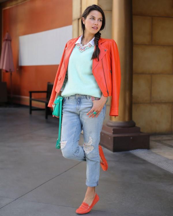 Annabelle Fleur, do Blog http://vivaluxury.blogspot.com.br/, vestindo uma calça estilo boyfriend