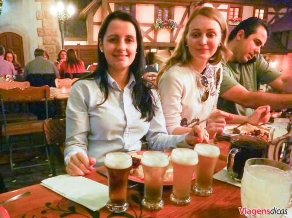 O German Beer Flight, no Restaurante Biergarten