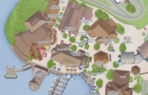 Mapa específico do Marketplace, em Disney Springs