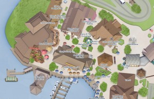 Mapa específico do Marketplace, em Disney Springs