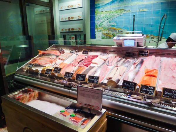 Peixes frescos da peixaria do Eataly NYC