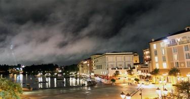 Panorama da área externa do The Loews Portofino Bay Hotel