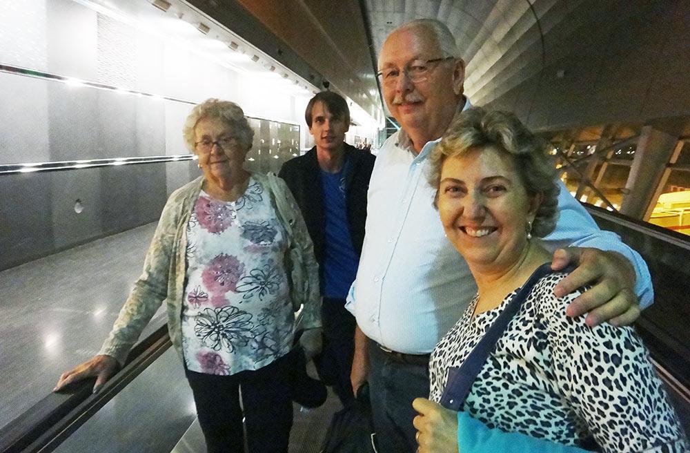 Chegando no aeroporto de Miami