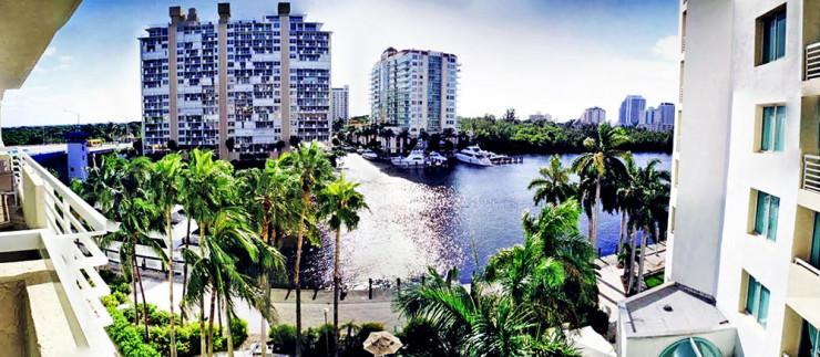 Vista do nosso hotel em Fort Lauderdale