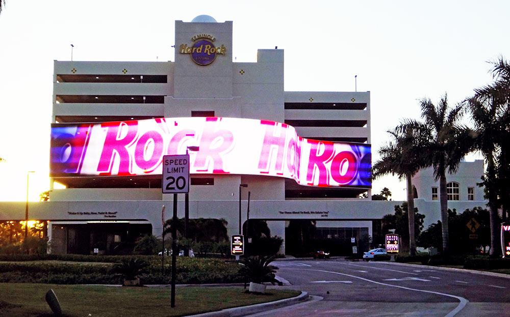 Hard Rock Casino - Entrada do prédio de estacionamento