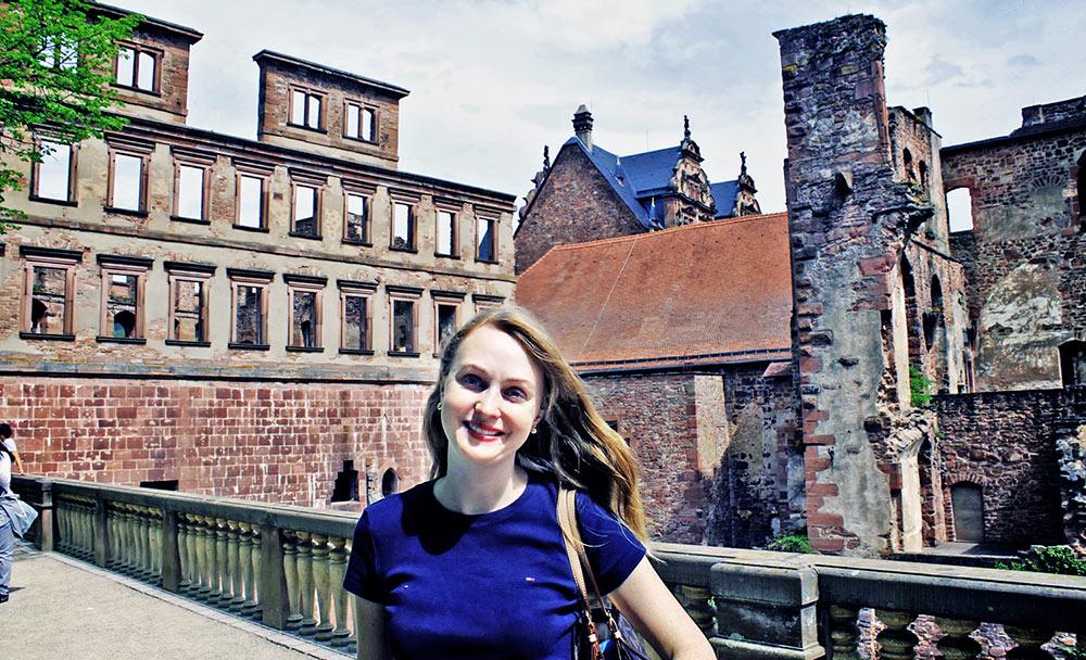 Visitando as ruínas do Schloss Heidelberg