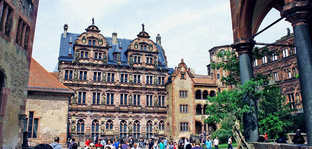 Edifício na Altstadt de Heidelberg, Alemanha
