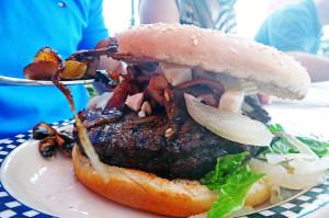 Outro delicioso hambúrguer do Mandy's, em Heidelberg