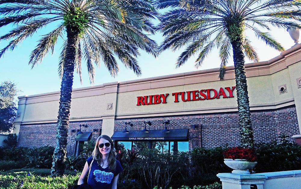 Ruby Tuesday, ótima opção para quem viaja à Florida