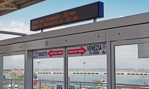 Mostrador eletrônico indicando o tempo que falta até a chegada do próximo People Mover