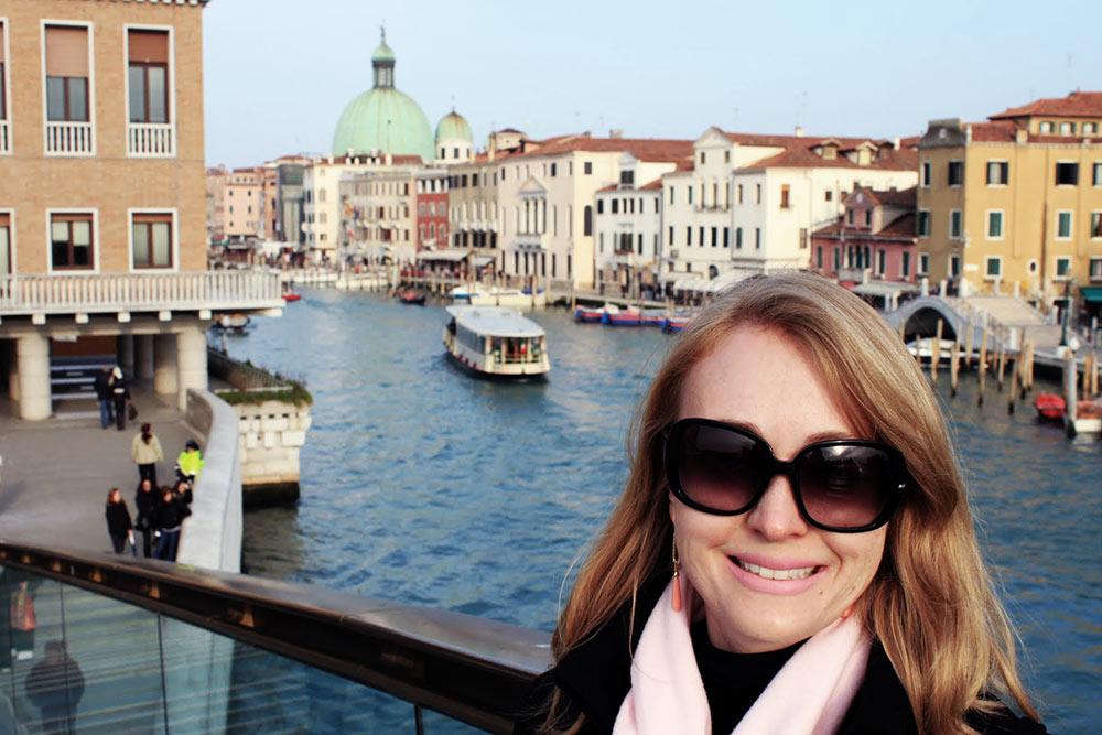 A bela Veneza, vista a partir da Ponte della Costituzione