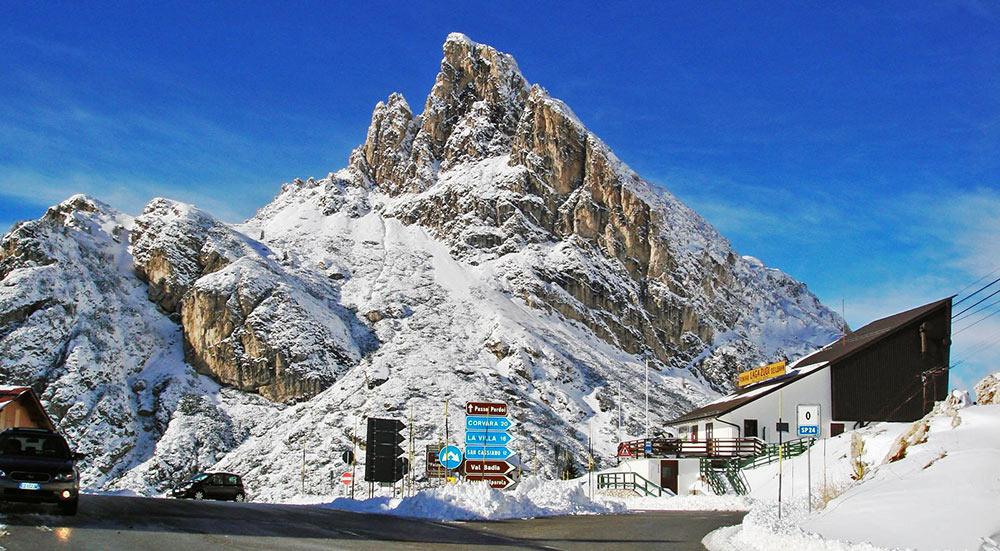 Passo Falsarego, no caminho para Cortina d'Ampezzo