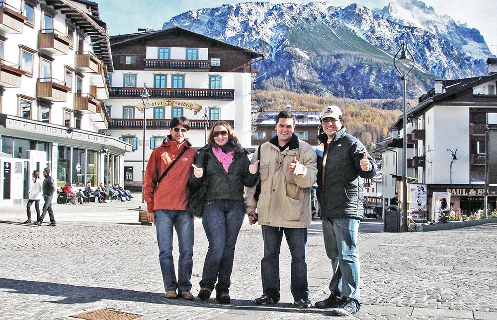 O centro de Cortina d'Ampezzo