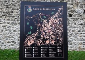 Mapa da cidade de Marostica