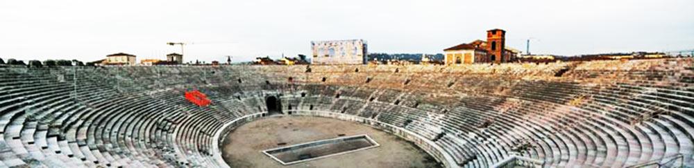 O interior da Arena di Verona
