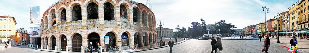 A Arena di Verona vista de fora Verona