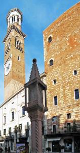 Uma torre do relógio em Verona