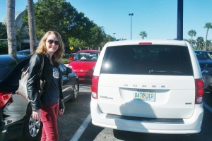 Minivan alugada na Flórida