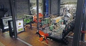 Vista do interior do Museu Alemão Tecnológico de Berlim