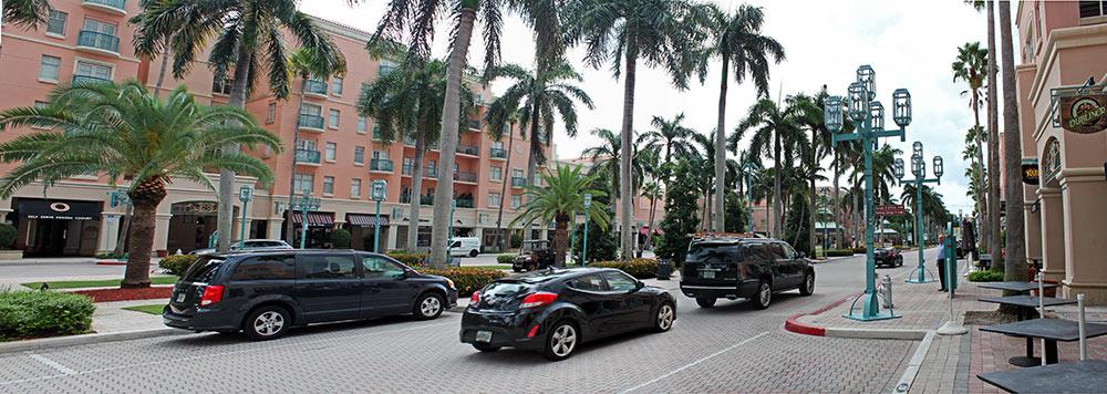 O belo centrinho de Boca Raton, Florida, Estados Unidos