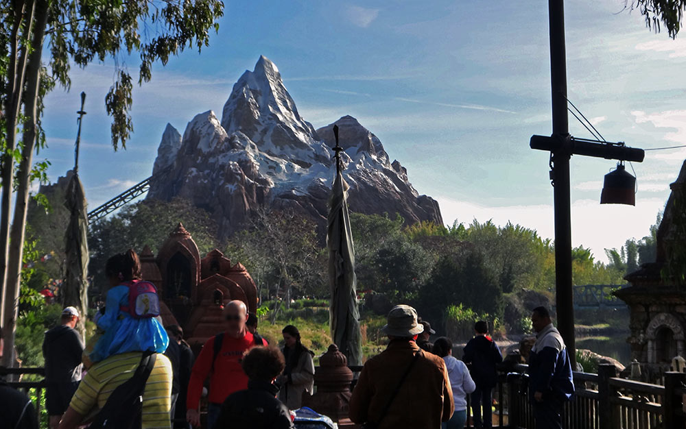 A atração Expedition Everest, no parque Disney's Animal Kingdom