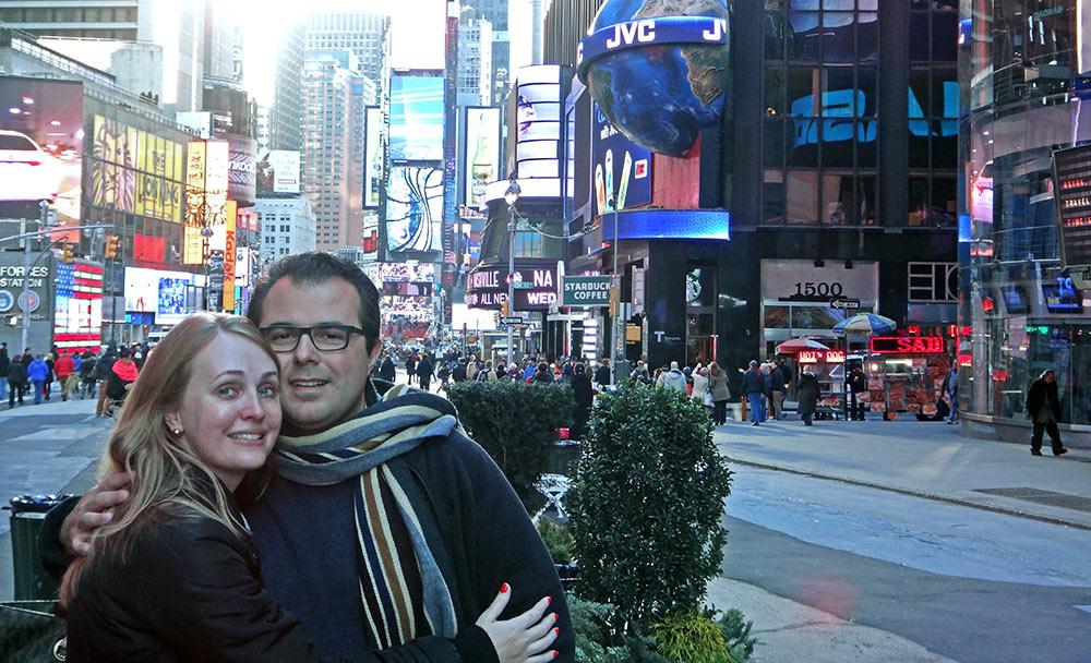 Times Square, no coração de Manhattan, NYC