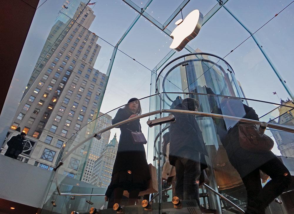 Loja da Apple na Quinta Avenida, em NYC