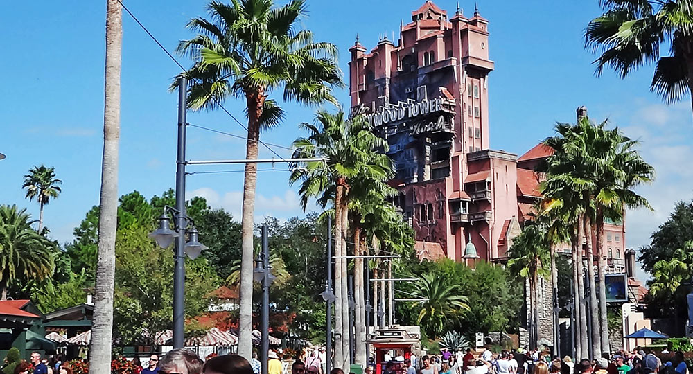 A atração Twilight Zone Tower of Terror, no parque Disney's Hollywood Studios