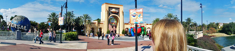 O portal para o parque Universal Studios Florida