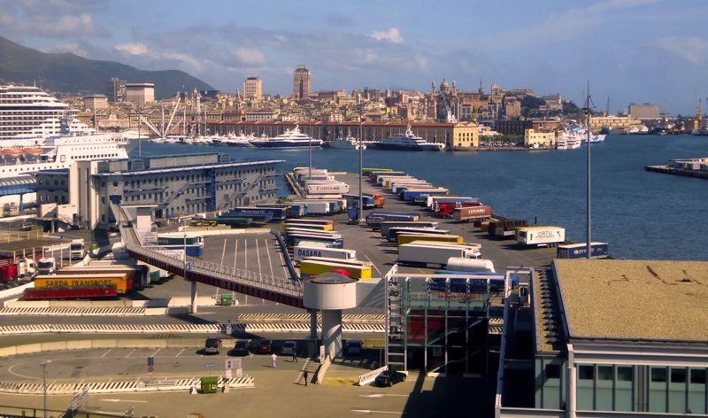 Vista do Porto de Gênova