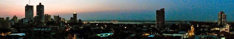 Panorama da cidade de Assunção, Paraguai
