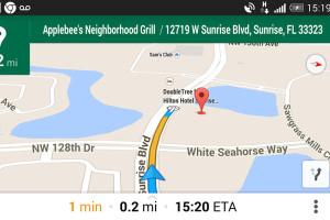 O uso do Google Maps como como um aparelho GPS, só que muito melhor