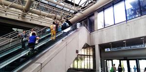 A estação Government Center, que une as linhas do Metromover com as do Metrorail