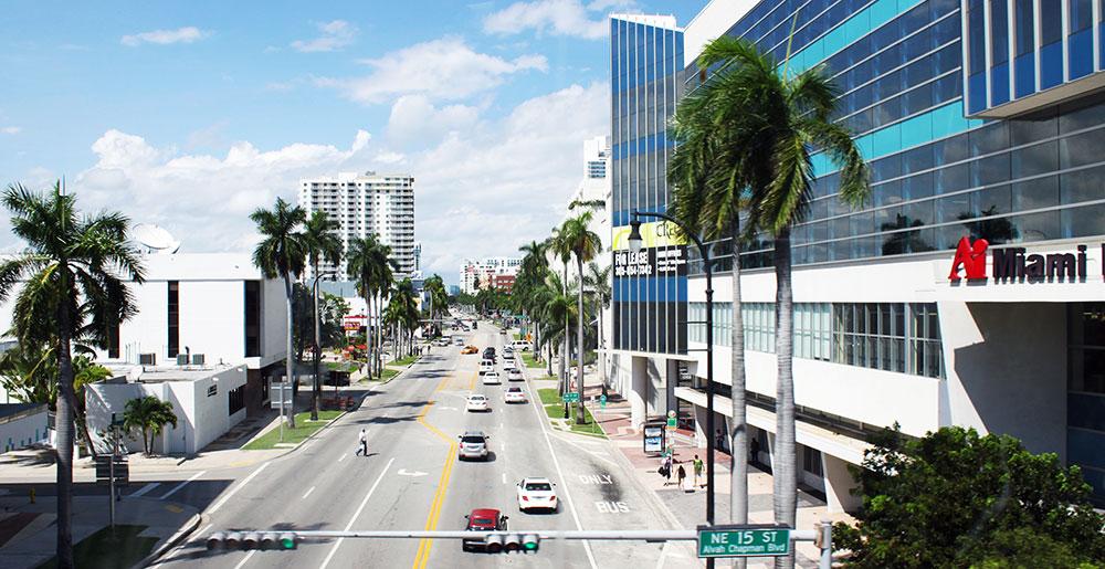 Ver Miami de cima e sem precisar se preocupar com o volante são algumas das vantagens de utilizar o Miami Metromover