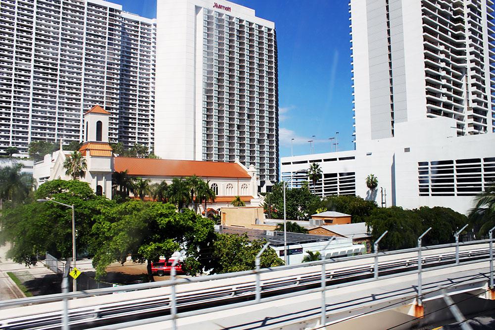 Miami vista a partir do Miami Metromover
