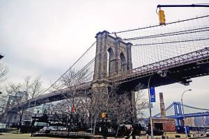 A ponte do Brooklyn, em Nova Iorque