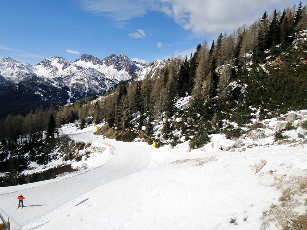 Pista de ski em San Martino di Castrozza