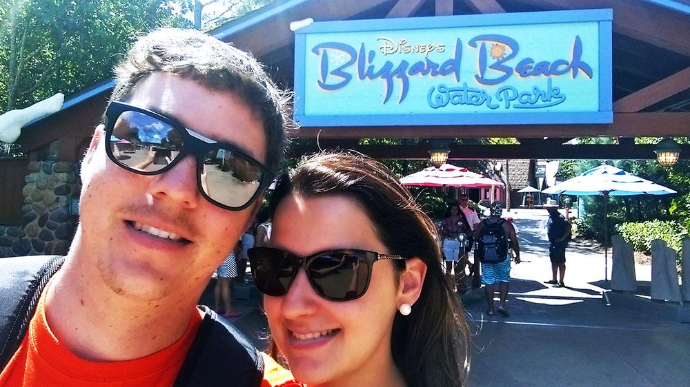 A entrada do parque Disney's Blizzard Beach