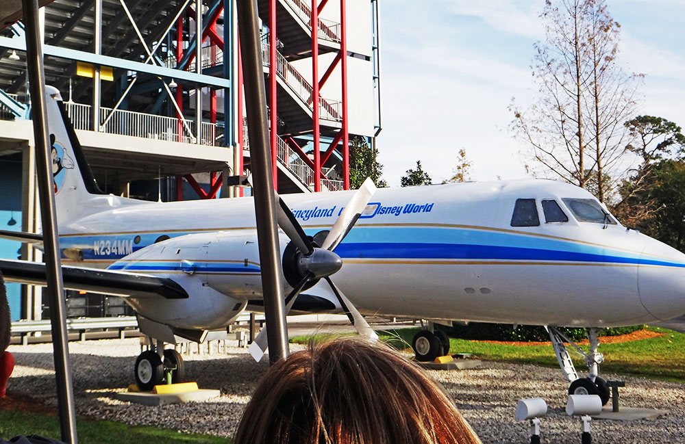 O avião de Walt Disney no The Studio Backlot Tour, no parque Disney's Hollywood Studios