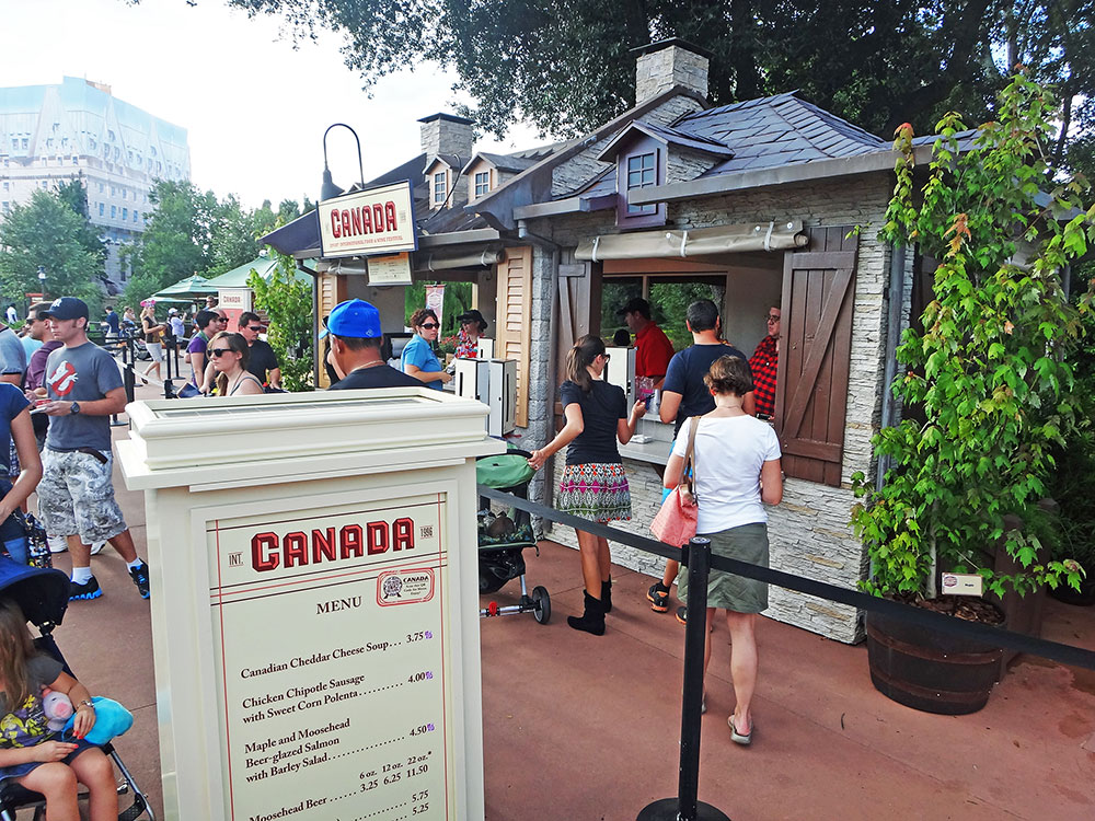 A barraca do Canadá no Epcot International Food and Wine Festival