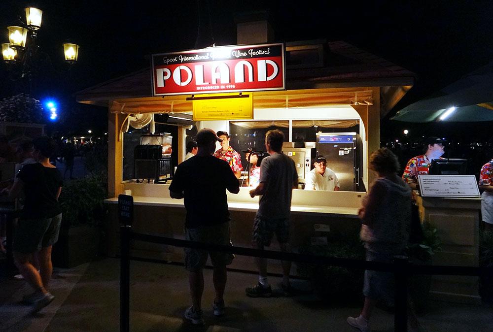 A barraca da Polônia no Epcot International Food and Wine Festival