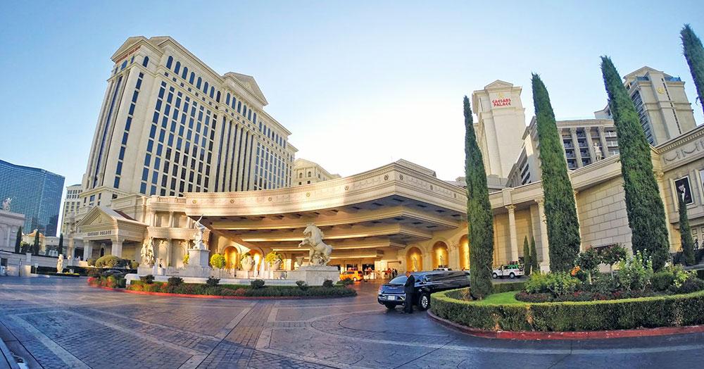 O hotel Ceasars Palace, em Las Vegas, Nevada