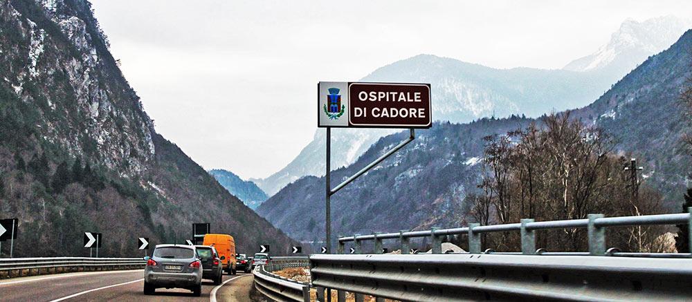 Ospitale di Cadore, uma das várias vilas com nome Cadore no Norte da Itália