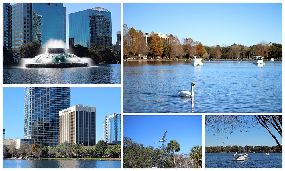 Lake Eola Park, em Downtown Orlando