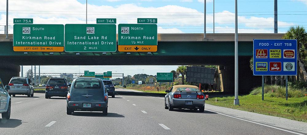 A rodovia i4 em Orlando, Flórida