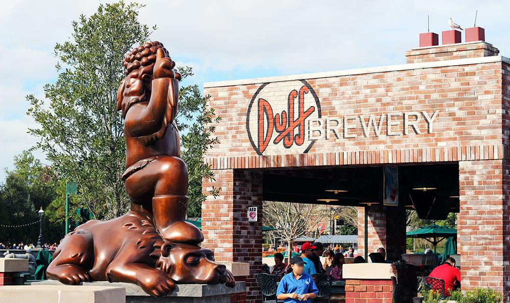 Duff Brewery, na área dos Simpson, no Universal Studios Florida